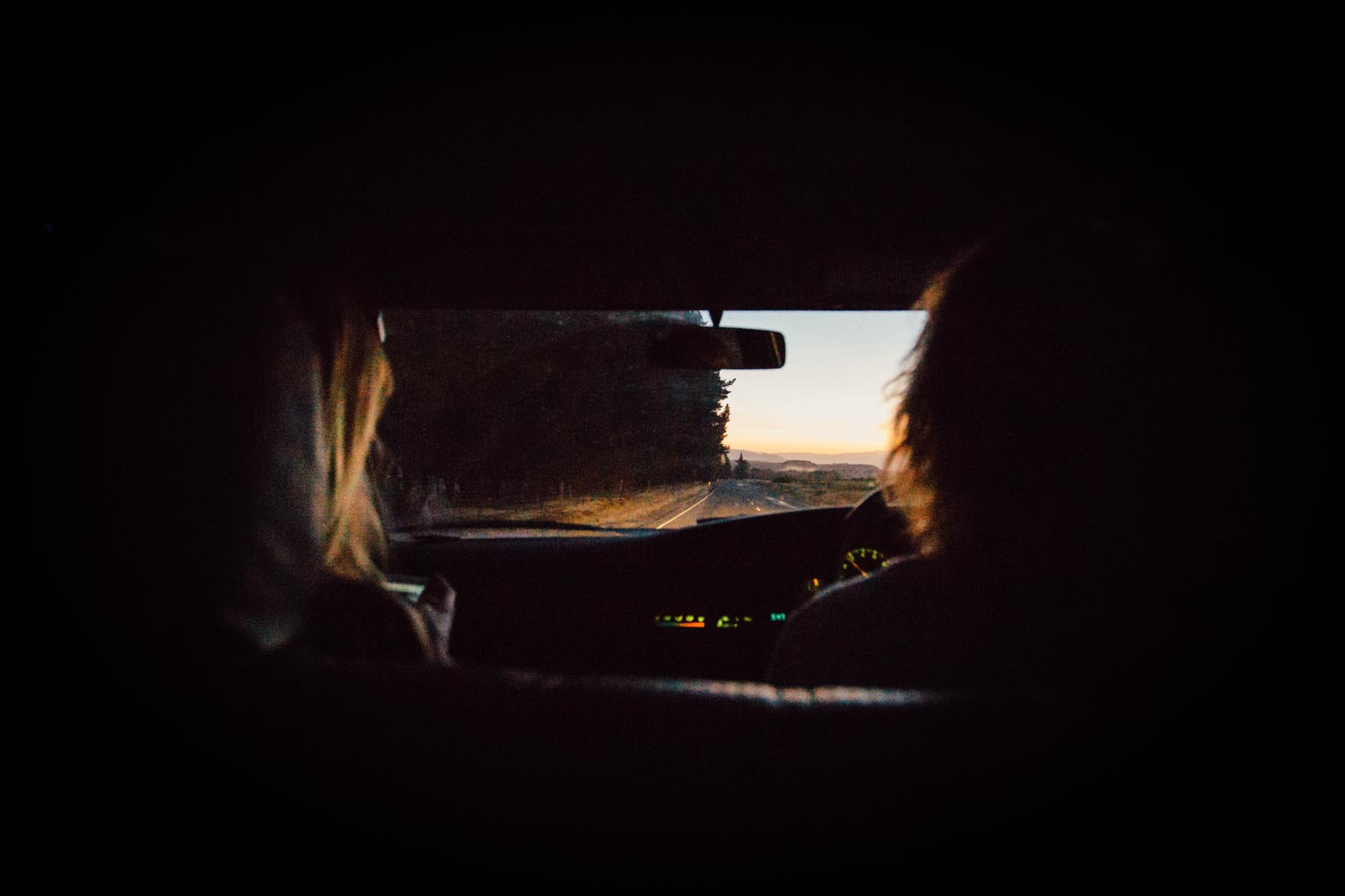 engagement photoshoot road trip