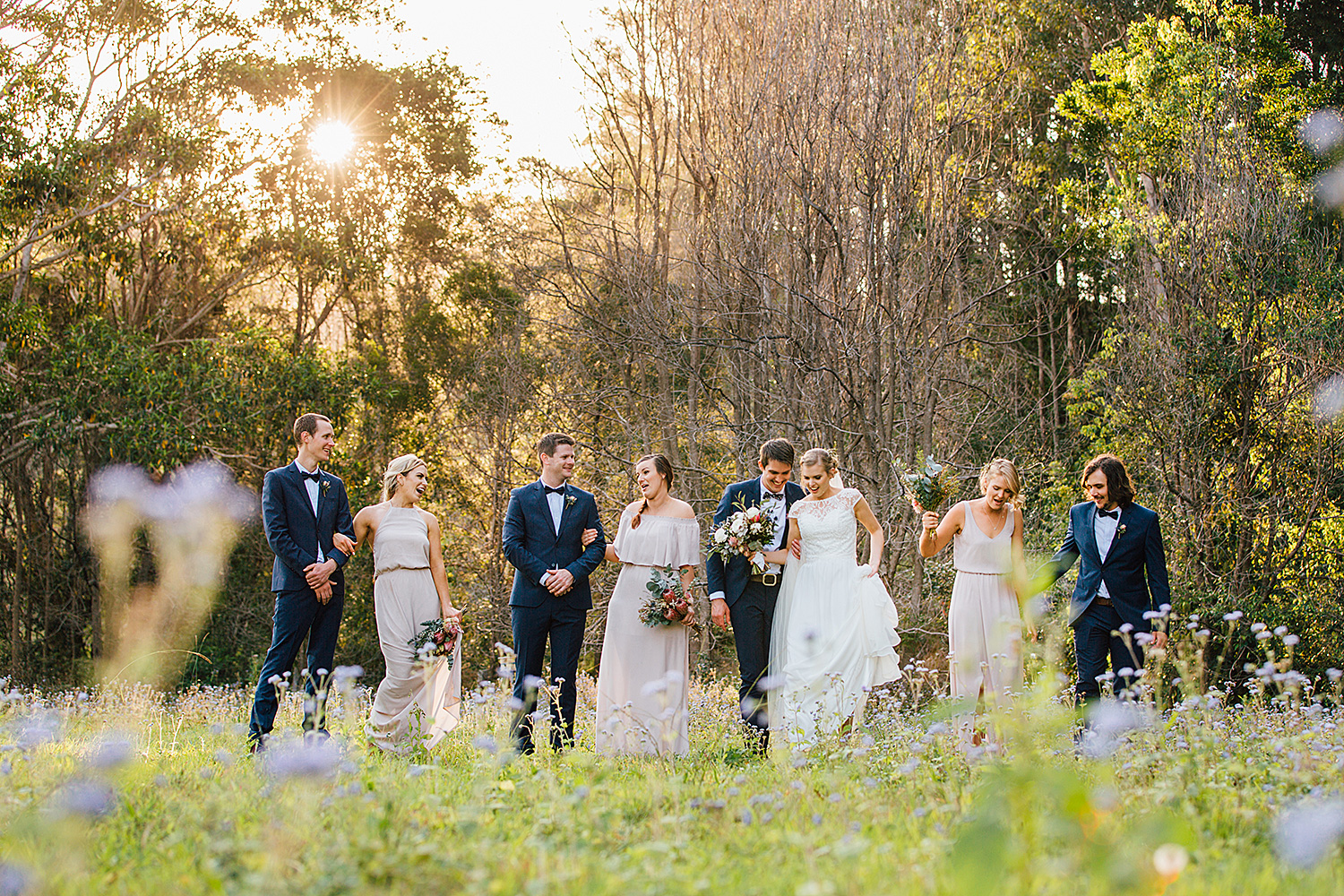 sunshine coast wedding photography bridal party