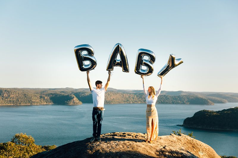 pregnancy reveal photography Brisbane
