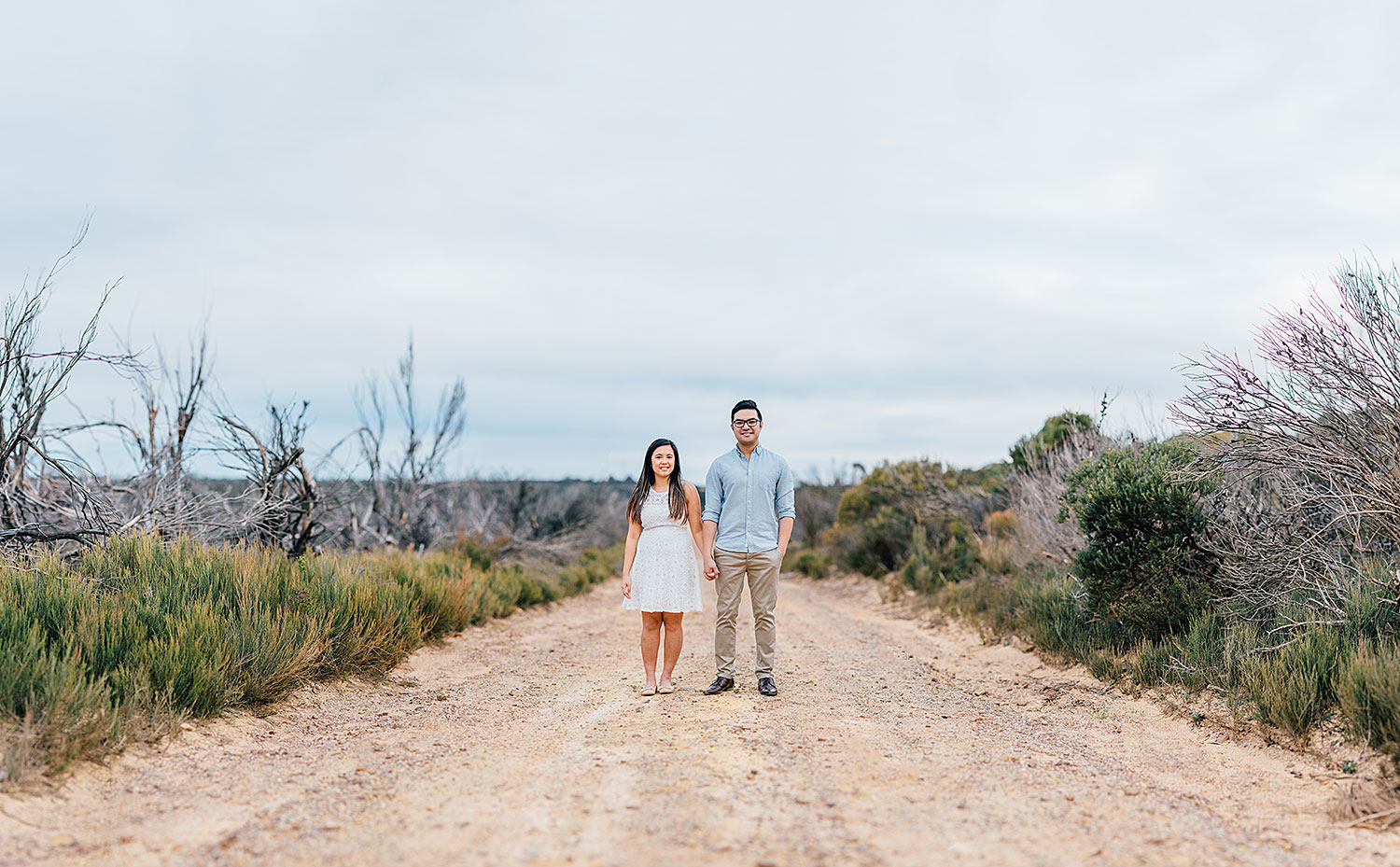 blue mountains engagement photoshoot adventure