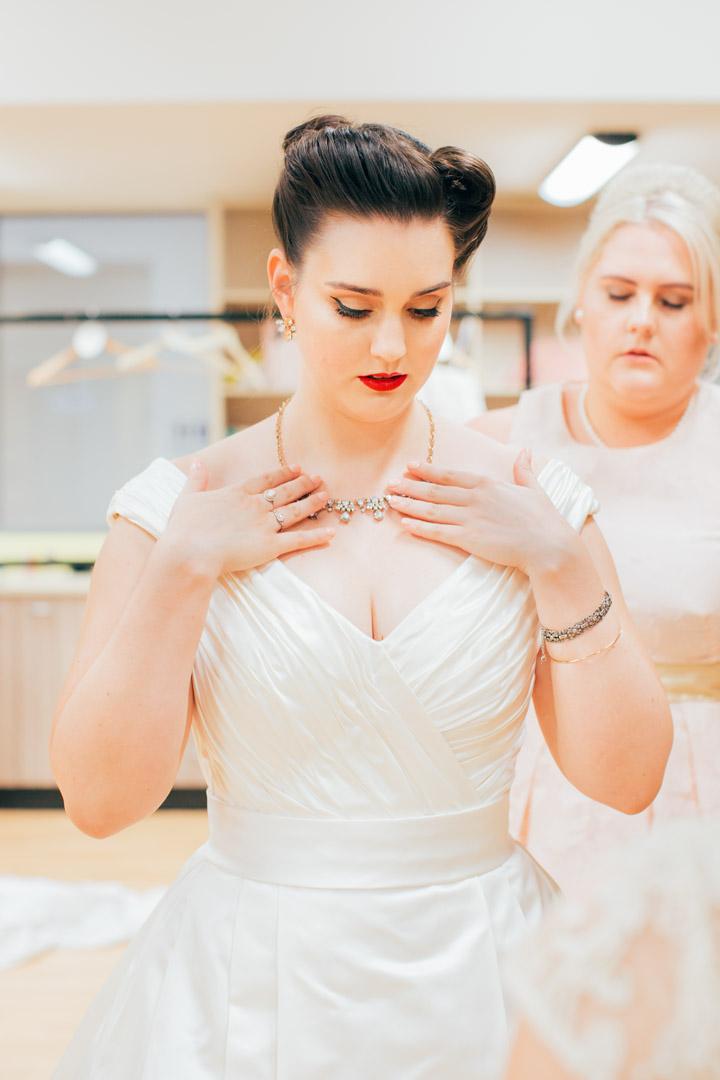Brisbane vintage wedding photography bride