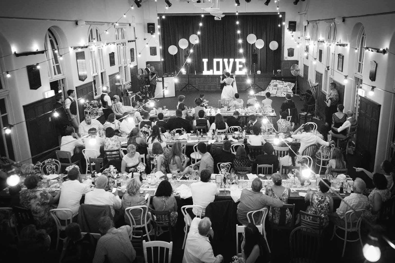 High Church Brisbane wedding photography reception