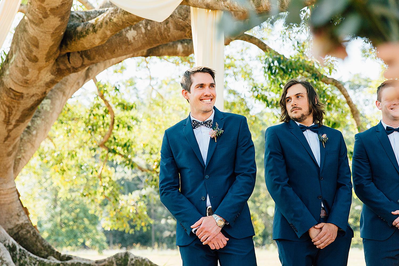 sunshine coast wedding photography groom tears
