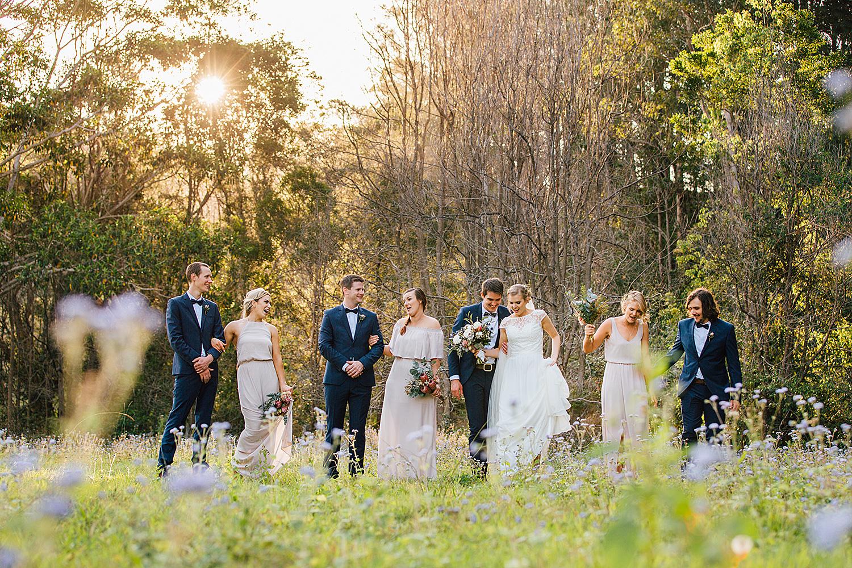 sunshine coast wedding photography bridal party