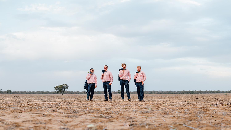 country nsw rusitc wedding photography groomsmen