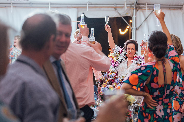 country nsw rusitc wedding photography wedding toast